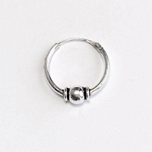 Aro de plata de 12 mm.